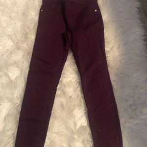 Girls Justice Size 10 pants with sparkles